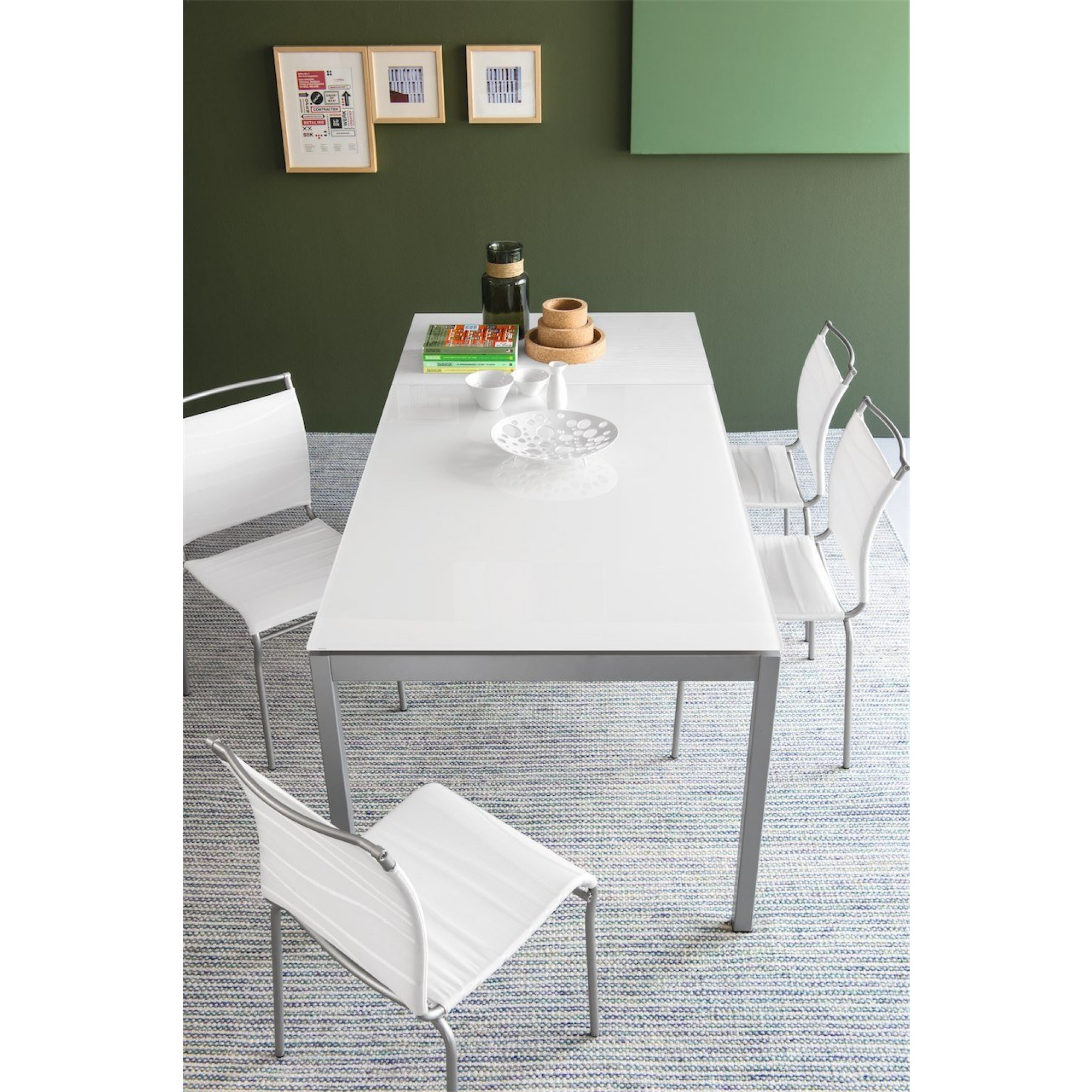 Tavolo Calligaris Vetro Bianco.Snap Extending Tables Tables Connubia By Calligaris