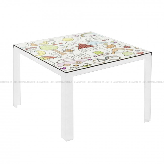 INVISIBLE TABLE KIDS Fixed Tables Tables KARTELL Masonionline - Kartell invisible coffee table