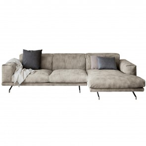 POLDO SOFA WITH CHAISE LONGUE, by DALL'AGNESE