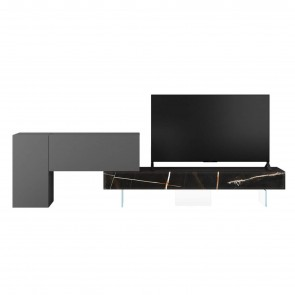 0707 XGLASS TV UNIT, by LAGO