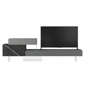 0746 XGLASS TV UNIT, by LAGO