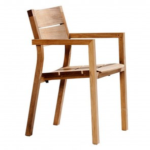 KOS TEAK ARMCHAIR, by TRIBU