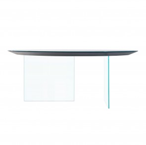 AIR ROUD GLASS TABLE, by LAGO
