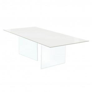AIR GLASS FIXED TABLE, by LAGO