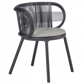 CIRQL CHAIR WITH ARMRESTS, by DEDON
