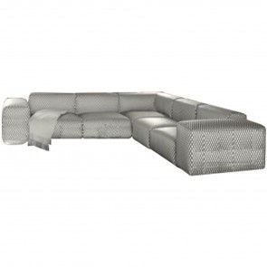 LARGO CORNER SOFA, by KARTELL