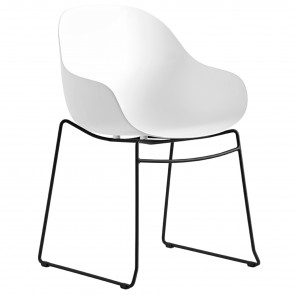 ACADEMY ARMCHAIR WHIT SLED LEGS CB/2143, by CONNUBIA