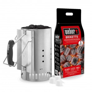 RAPIDFIRE CHIMNEY STARTER SET, by WEBER
