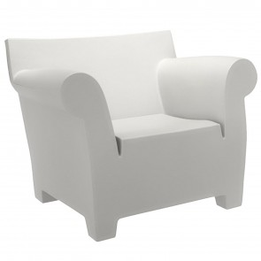 BUBBLE CLUB WHITE ARMCHAIR, by KARTELL