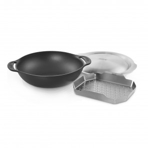 WOK SET WITH STEAMING RACK, by WEBER
