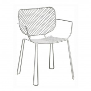 IVY CHAIR WITH ARMRESTS, by EMU