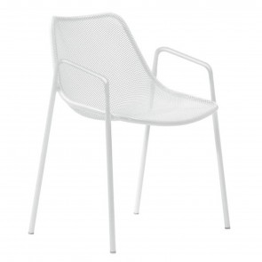 ROUND CHAIR WITH ARMRESTS, by EMU