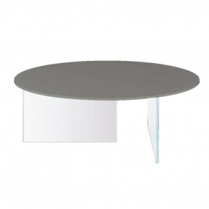 AIR GLASS ROUND COFFEE TABLE, by LAGO