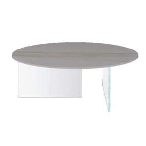 AIR XGLASS ROUND COFFEE TABLE, by LAGO