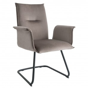 MAYA ARMCHAIR WITH CURVED SLED BASE
