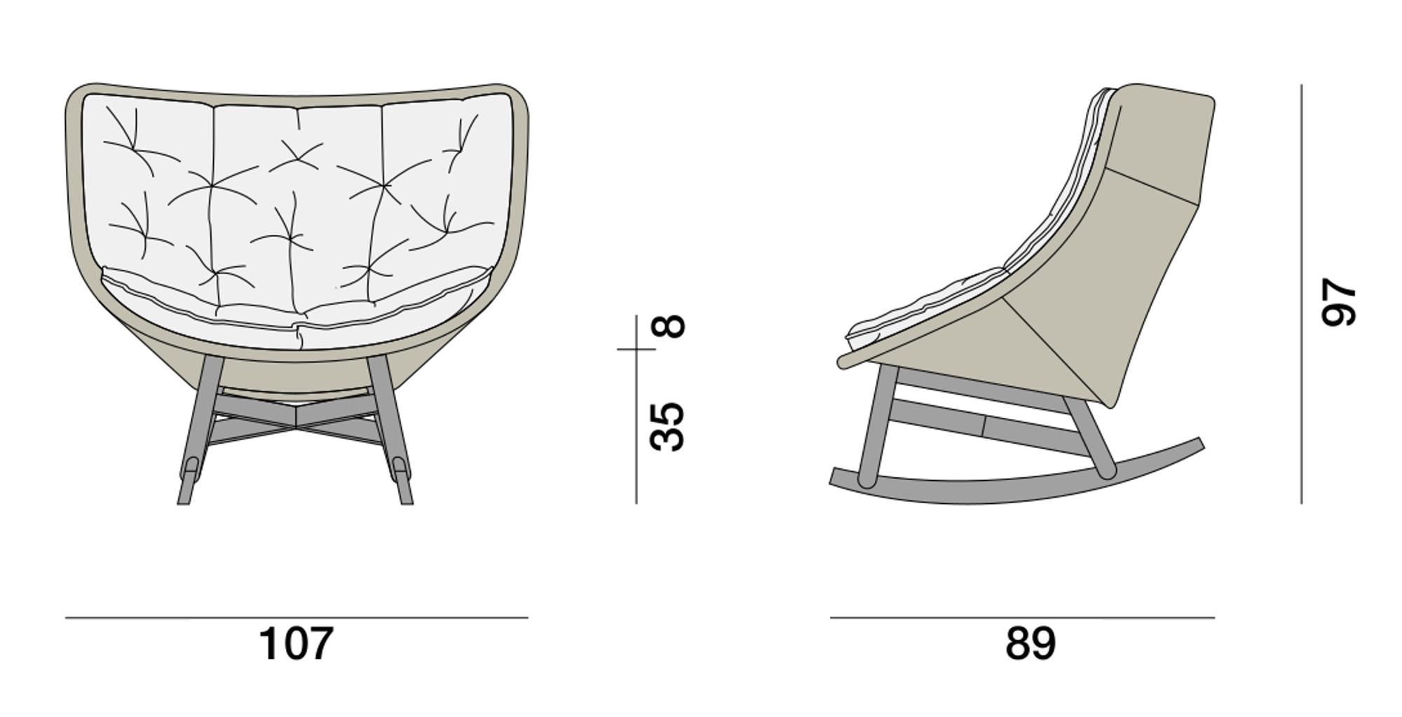 Mbrace Rocking Chair Dedon Brand Dedon Masonionline