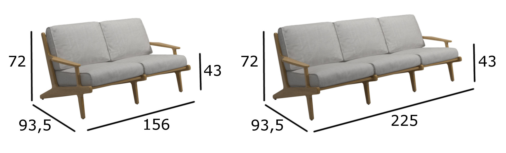 Bay Sofa Linear Sofas Armchairs And