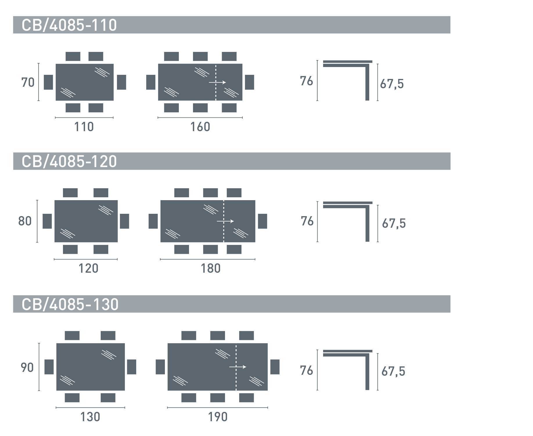 Tavolo 70 X 120 Allungabile.Snap Extending Tables Tables Connubia By Calligaris